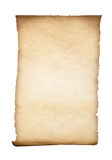 Parchment or old paper isolated. On white Stock Photos