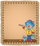 Parchment with painting clown Royalty Free Stock Images