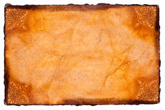 Parchment paper. With vignette in corners Royalty Free Stock Images