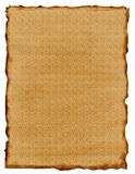Parchment Paper. Brown Parchment Paper with Burned Edges Stock Photo
