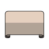 Parchment paper isolated icon Royalty Free Stock Photos