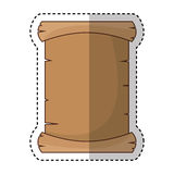 Parchment paper isolated icon Stock Image