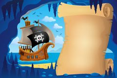 Parchment in pirate cave image 3 Royalty Free Stock Images