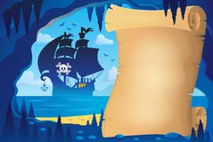 Parchment in pirate cave image 4. Eps10 vector illustration Royalty Free Stock Photography