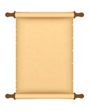 Parchment roll stock illustration