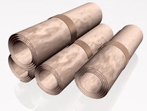 Parchment rolls Royalty Free Stock Photo