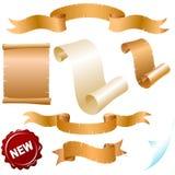 Parchment rolls Stock Photos