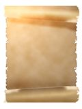 Parchment scroll Royalty Free Stock Photos