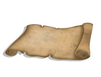 Parchment scroll 3D Stock Images