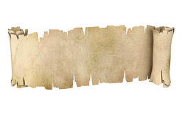 Parchment scroll 3d illustration Royalty Free Stock Images