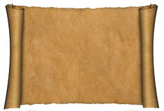 Parchment scroll background Stock Image