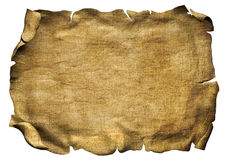 Parchment scroll pirate paper Stock Image