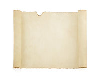 Parchment scroll on white Stock Photography