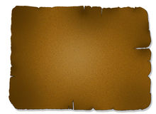 Parchment. A sheet of parchment paper with ragged edges Stock Photo