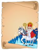 Parchment with Sinterklaas theme 2. Eps10 vector illustration Stock Images