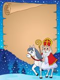 Parchment with Sinterklaas theme 3. Eps10 vector illustration Stock Photography