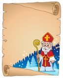 Parchment with Sinterklaas theme 1. Eps10 vector illustration Stock Photography