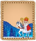 Parchment with Sinterklaas theme 5. Eps10 vector illustration Stock Photography