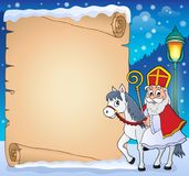 Parchment with Sinterklaas theme 4. Eps10 vector illustration Stock Photography