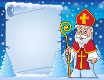 Parchment with Sinterklaas theme 6. Eps10 vector illustration Royalty Free Stock Images