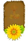 Parchment sunflowers Stock Image