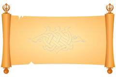 Parchment symbol of the Sikhs Royalty Free Stock Images