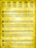 Parchment Tablature Paper. Parchment Guitar Tablature Paper royalty free stock photography