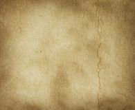 Parchment texture with crease mark. Rotate image to use in vertical (portrait) fomat Royalty Free Stock Photography