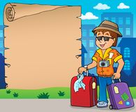 Parchment with travel theme 8. Eps10 vector illustration Royalty Free Stock Photography