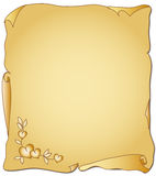 Parchment for Valentine's Day Royalty Free Stock Images