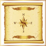 Parchment with wind rose Royalty Free Stock Images