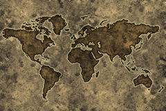 Parchment world map Stock Photography