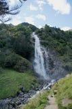 Parcines瀑布在南蒂罗尔,意大利 库存照片