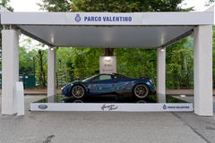Parco瓦伦蒂诺-露天车展在都灵-再版2016年 图库摄影