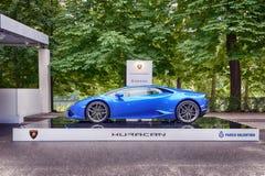 Parco瓦伦蒂诺-露天车展在都灵-再版2016年 库存照片