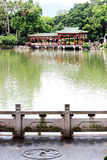 Parco ad ovest del lago Fotografia Stock