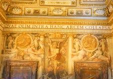 PARCO ADRIANO, ROME, ITALIEN: OKTOBER 11, 2017: Det Palino rummet a Arkivbild