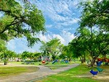 Parco alla provincia di Somdet Phra Srinakarin Park Pattani, Tailandia immagini stock