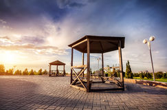Parco a Almaty Fotografia Stock