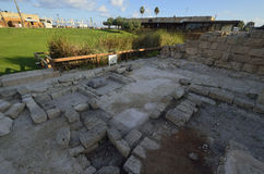 Parco archeologico di Cesarea Fotografia Stock