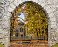 Parco autunnale in Jurmala, Dubulti, Lettonia Immagini Stock Libere da Diritti