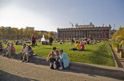 Parco a Berlino Fotografie Stock Libere da Diritti