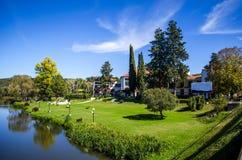 Parco celeste dell'hotel fotografia stock libera da diritti