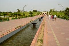Parco commemorativo di Raj Ghat dedicato a Mahatma Gandhi Fotografie Stock Libere da Diritti