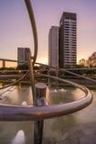 Parco con lo stagno a Barcellona Immagine Stock Libera da Diritti