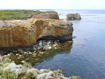 Parco costiero con le viste di oceano eccezionali e le caratteristiche geologiche Fotografia Stock