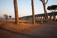 Parco degli Acquedotti,罗马,意大利 免版税库存照片
