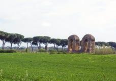 Parco degli acquedotti along the Appian way in Rome Stock Photos