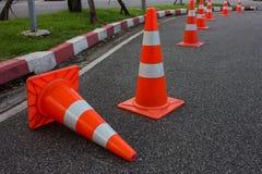 Parco dei coni di traffico Immagine Stock
