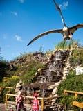 Parco dei dinosauri in Leba Polonia Fotografie Stock Libere da Diritti